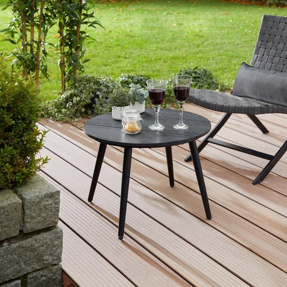 Beistelltisch Lissabon O 54 Cm Schwarz Danisches Bettenlager Beistelltisch Garten Tisch Couchtische
