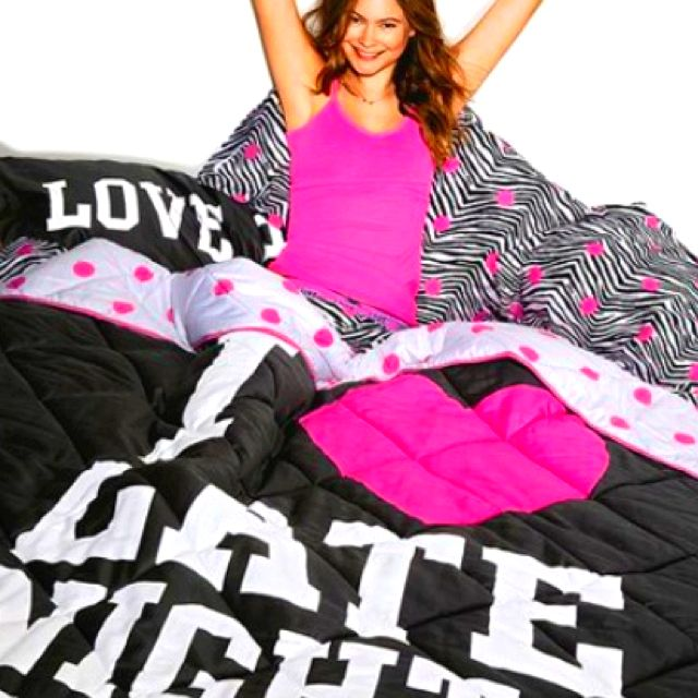 I Only Sleep In Pink Pink Comforter Victoria Secret Bedding