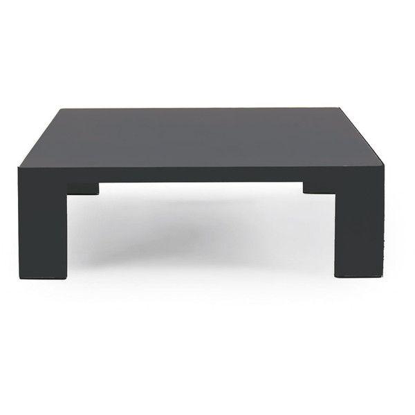 ethimo esedra square low coffee table dark grey & slate grey ($950