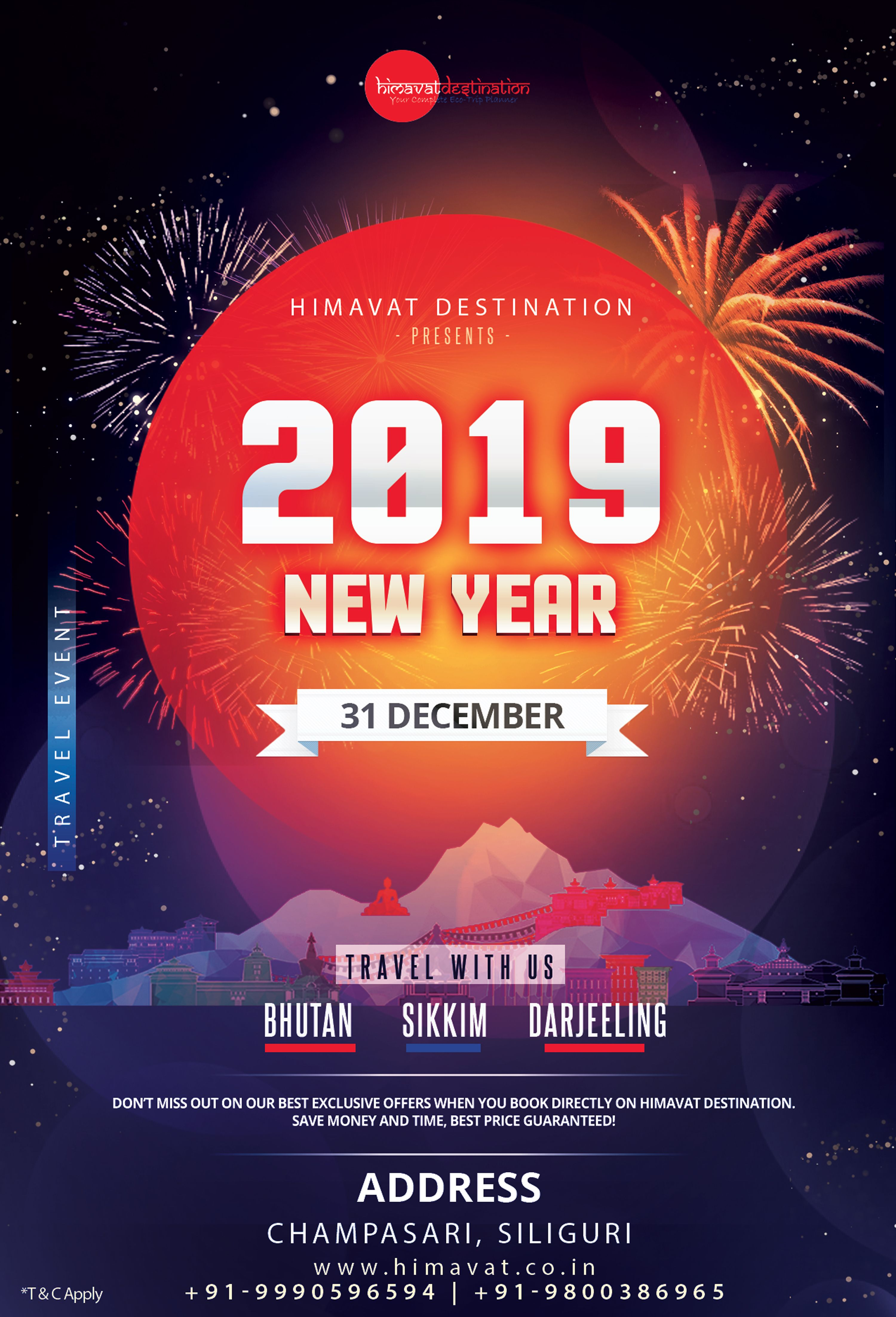 Happy New Year 2019 Bhutan travel, Travel package deals