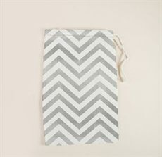 Chevron muslin bag for party favors