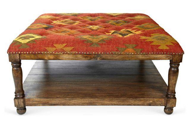 Kilim Ottoman Coffee Table 7