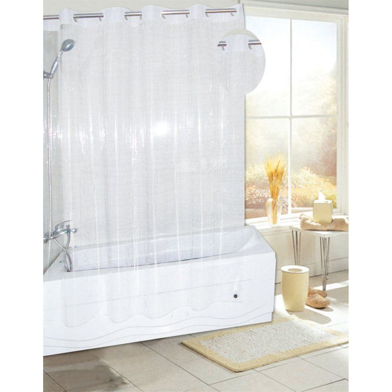 Carnation Home Fashions Ez On Eva Vinyl Shower Curtain With Build Enchanting Clear Bathroom Accessories Design Decoration
