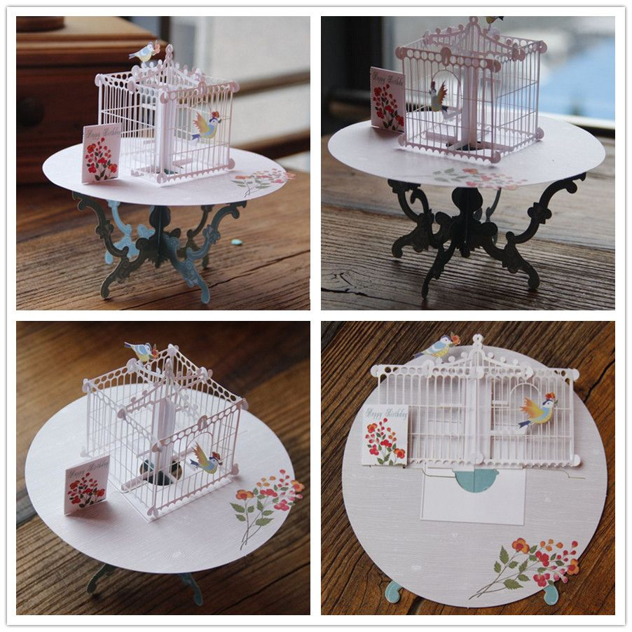 Birdcage laser cut 3d pop up paper laser cut crafts display custom birdcage laser cut 3d pop up paper laser cut crafts display custom handmade greeting cards happy m4hsunfo