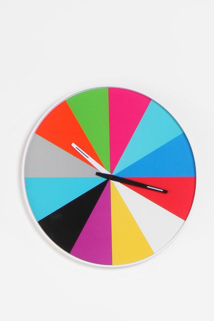 color block clock from urban $49