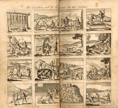 도미니쿠스파 선교사인 라스 카사스(Las Casas)는 아메리카에서 벌어지는 스페인 식민자들의 악행을