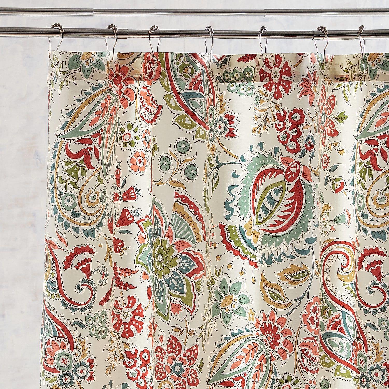 siena multi paisley shower curtain