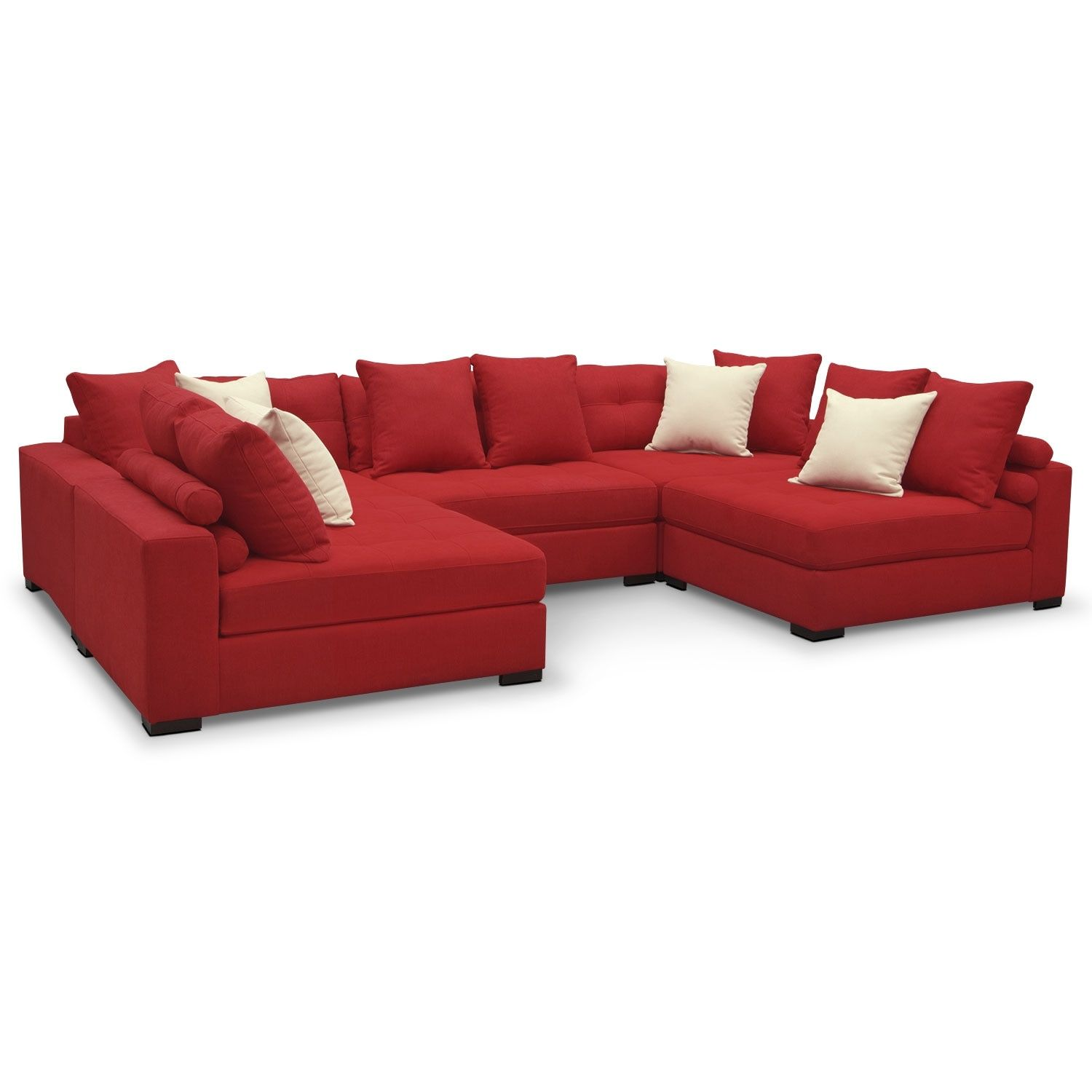 Handcrafted Design Built For Durability And Versatility The Venti Red Five Piece Sectional By Kroehler Furniture Value City Furniture Living Room Furniture