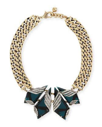 Reflection Crystal Curb-Chain Collar Necklace by Lulu Frost at Neiman Marcus.