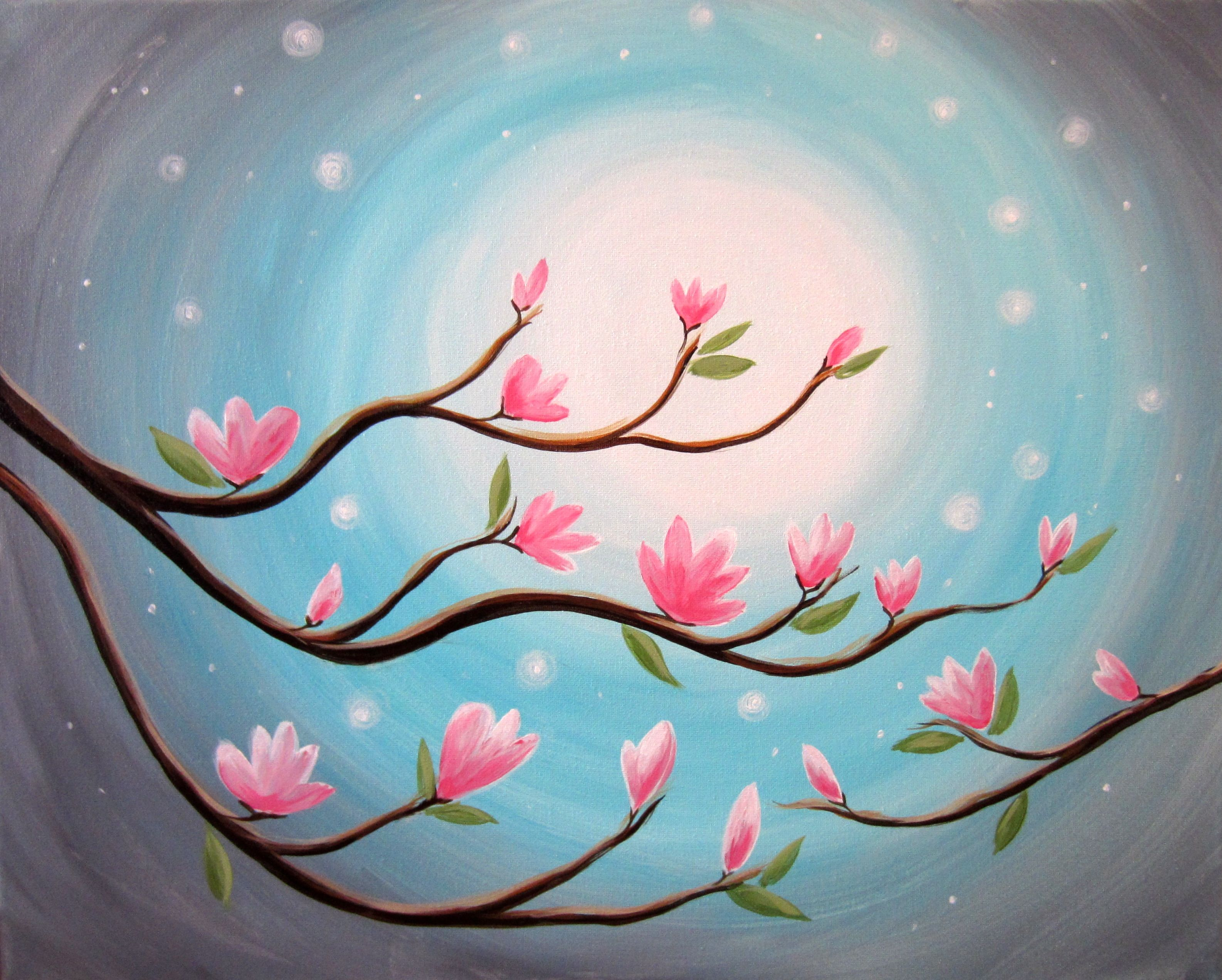 Find Your Next Paint Night Tree Painting Wine And Canvas Night