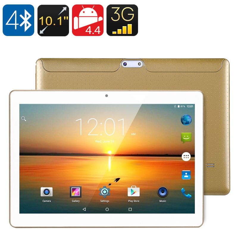 10 1 Inch 3g Tablet Qua Dcore Cpu Android Os Otg Dual Sim Hd Ips Display 4500mah Battery Google Play Gold 3g Androi Tablet Android Tablets Dual Sim
