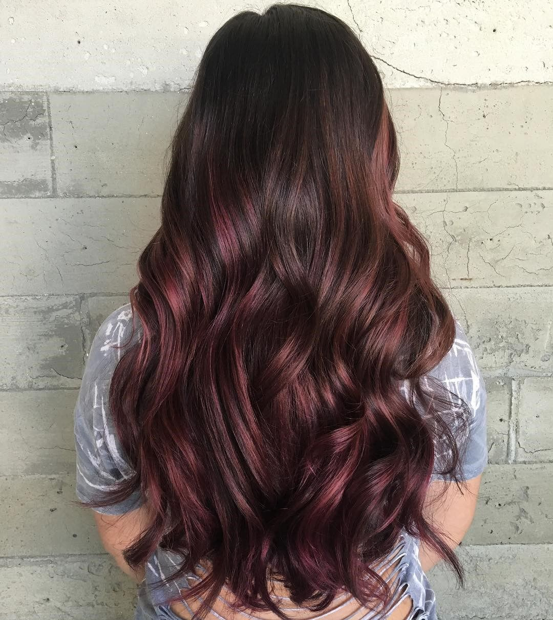 45 Shades Of Burgundy Hair Dark Burgundy Maroon Burgundy With Red Purple And Brown Highlights Burgundy Balayage Hair Color Burgundy Burgundy Hair