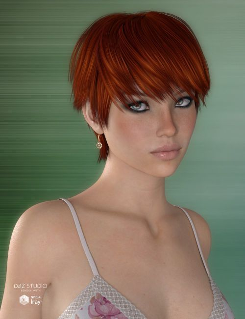 Gracy Hair For Genesis 3 And 8 Females 3d Hair For Dazstudio