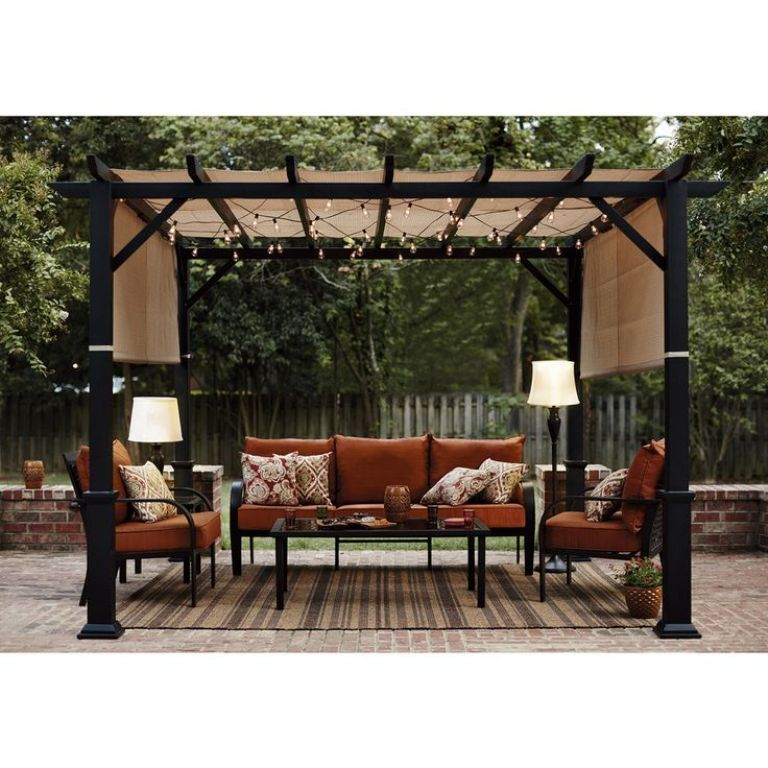 exterior fantastic pergola metal en kit and pergola en metal from metal pergola roof. Black Bedroom Furniture Sets. Home Design Ideas