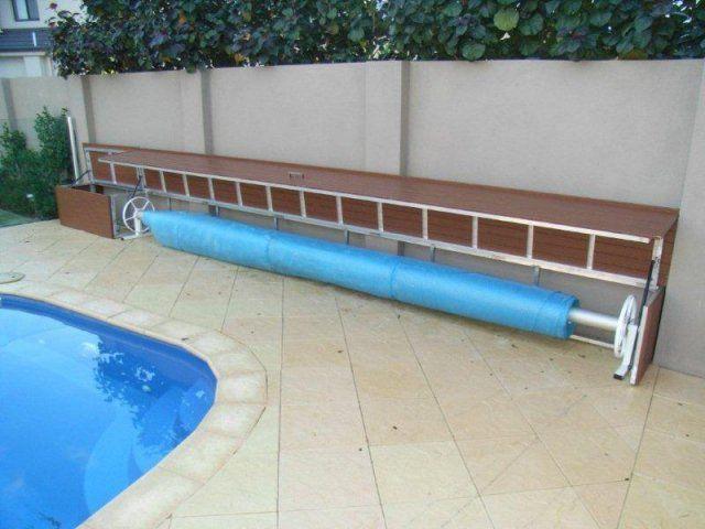 Pool Blanket Boxes Australia Timber Look Aluminium Pool Blanket Box Pool Landscaping