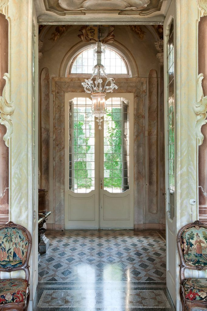 Neoclassical magnificent interior of Villa Sola Cabiati on Hello Lovely