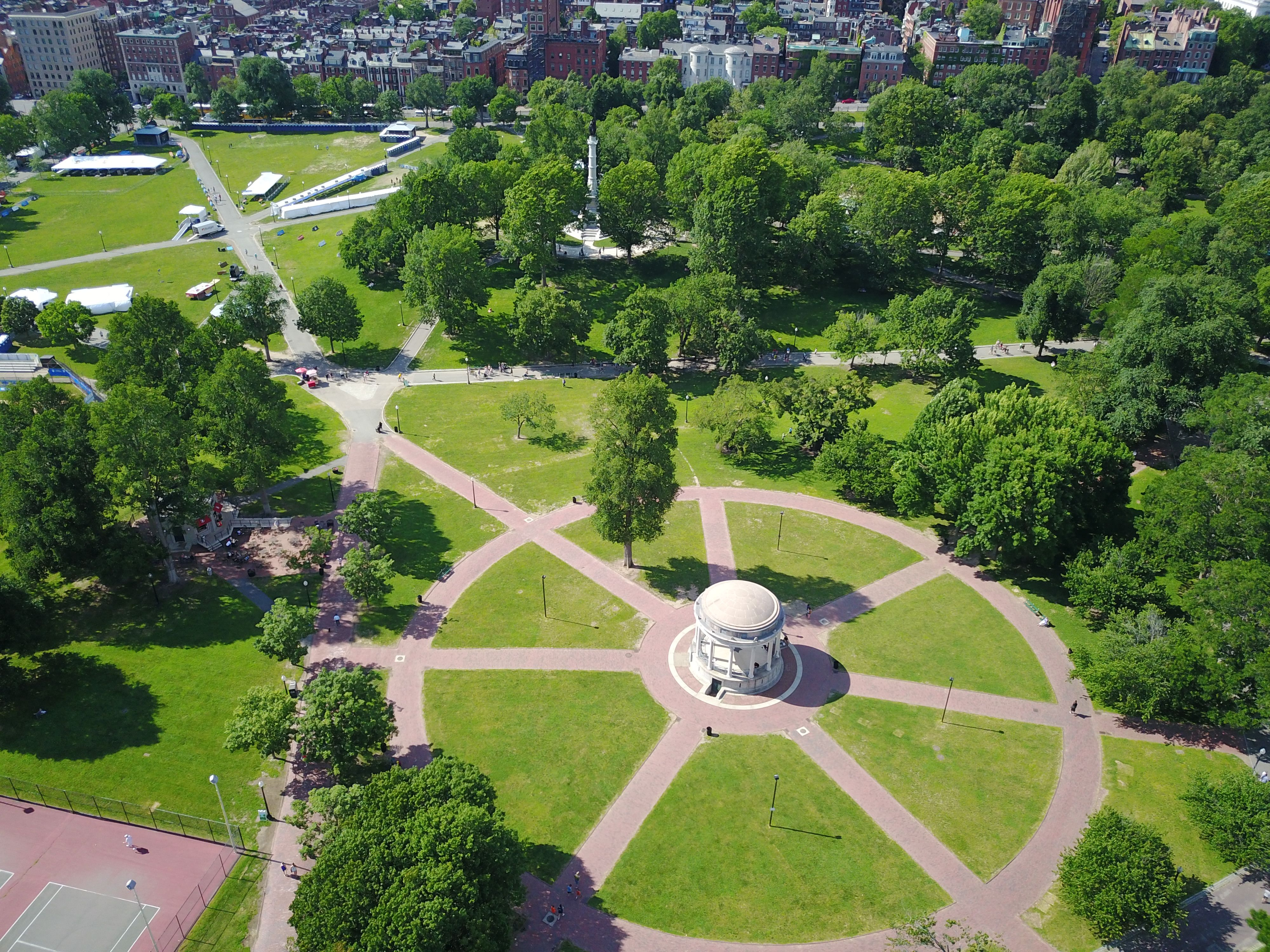 Image result for boston common aerial shot Boston common