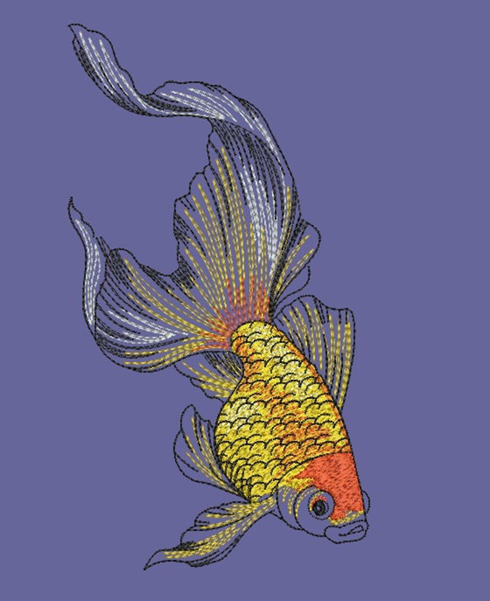 Картинки рыбок для вышивки