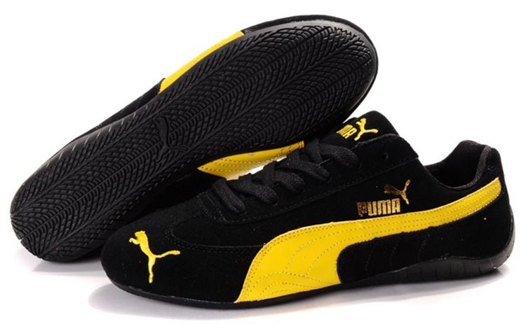 Men Puma Fur 889 - Black Yellow | Puma sports shoes, Mens ...