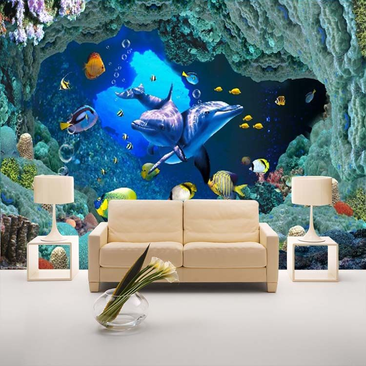 Beautiful Online Shop Custom Stereoscopic Large Mural Wall Paper TV Backdrop Business  Topics Underwater World Of Marine Fish Nonwoven Wallpaper Part 20