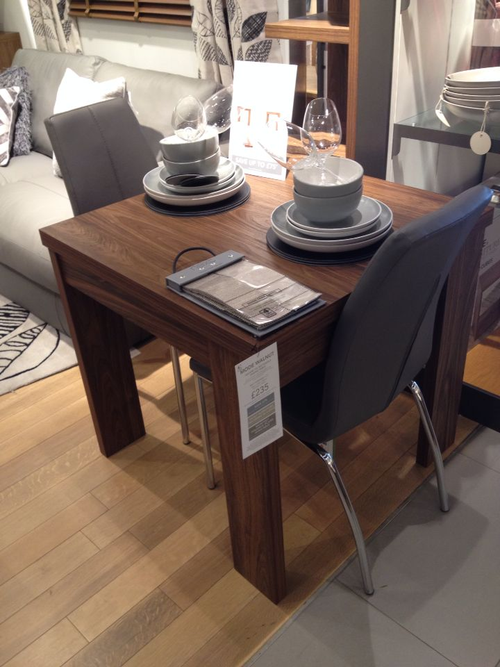 Next Opus Chairs In Grey At A Walnut Table TableDining Rooms