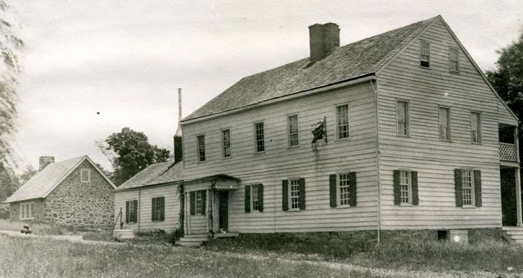 Rockingham, circa 1910. Rockingham was General George Washington's final Revolutionary War headquarters for about two and a half months in 1783, while the Continental Congress was meeting in Princeton. The home was built in 1710 and enlarged in 1760. Discover more history @ www.thehistorygirl.com