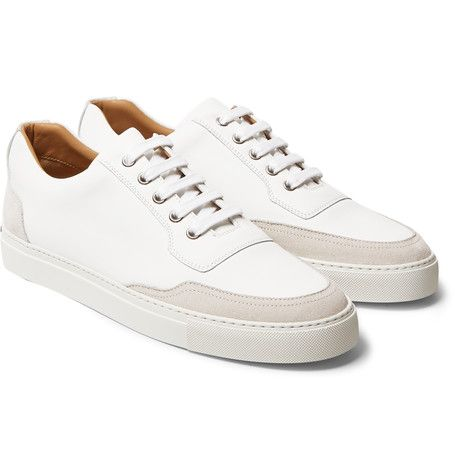Harrys of London - Mr. Jones 2 Leather-Panelled Suede Sneakers