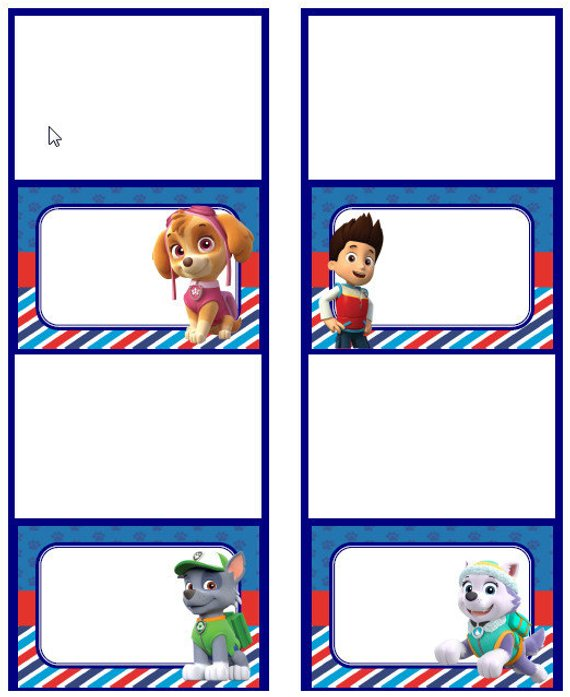 Paw Patrol Food Labels In 2019 Products Paw Patrol Food Labels