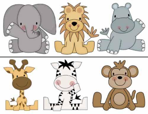 animales de la selva animados bebes   Baby Shower   Pinterest   Baby ...