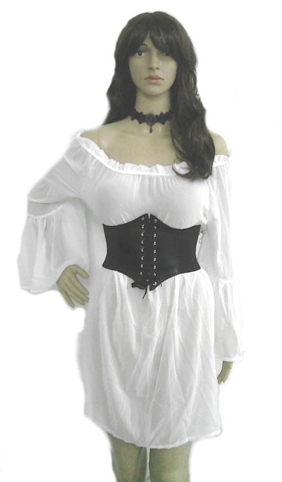 ea4f96903 Plus XL 2XL Renaissance Chemise   Corset Set Blouse Pirate Shirt Top  Steampunk Wench Victorian Medie