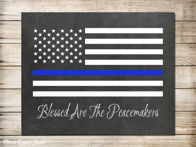 Printable Art Police Officer Gift Police Gifts Thin Blue Line Etsy In 2020 Gifts For Office Police Officer Gifts Police Gifts