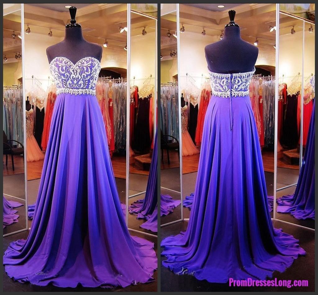 Grape prom dresseschiffon prom gownssparkle prom dresseslong