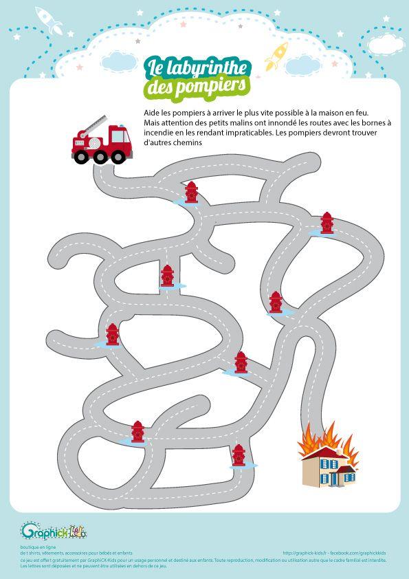 L\'activité du mercredi : Le labyrinthe des pompiers | Feuerwehr ...