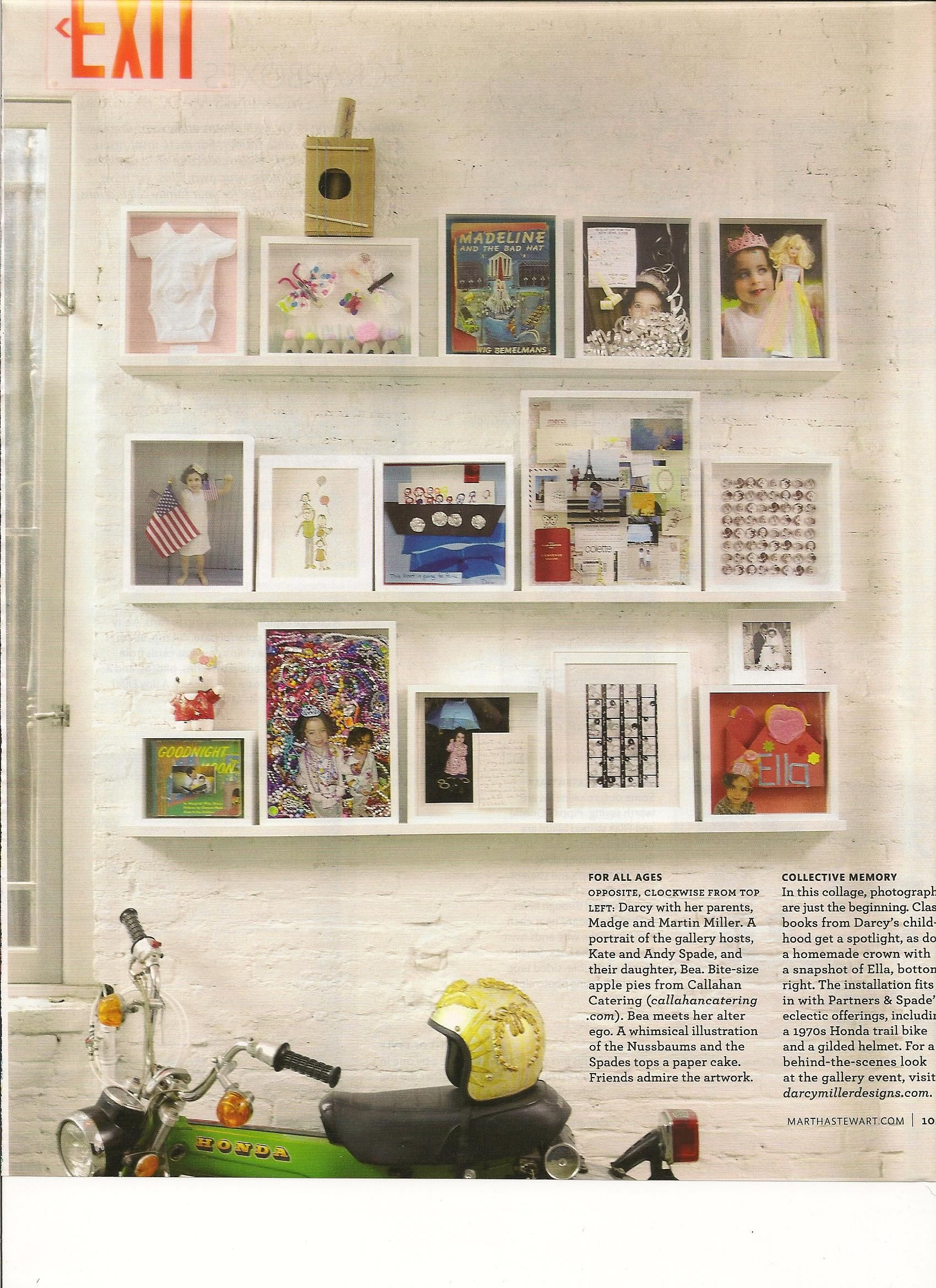 Shadow Box Wall Martha Stewart Living Magazine
