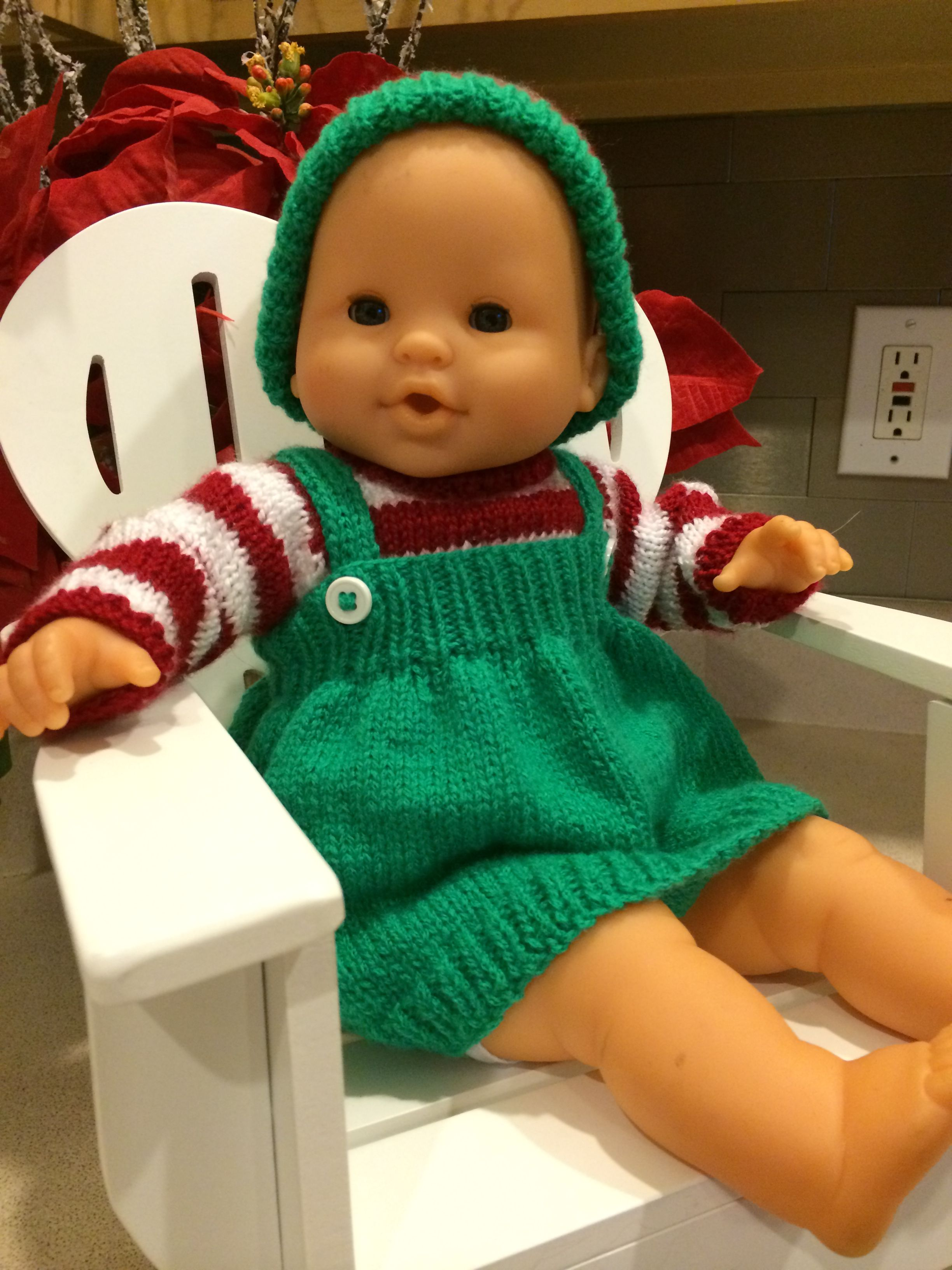 Christmas Elf pattern for American Girl Bitty Baby or Corolle