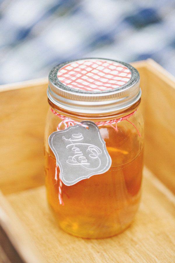 Use local honey and mason jars - Cute, creative and a money saver.