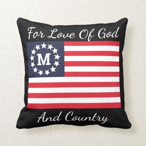 1776 Flag Cool Reversible Pledge Of Allegiance Throw Pillow