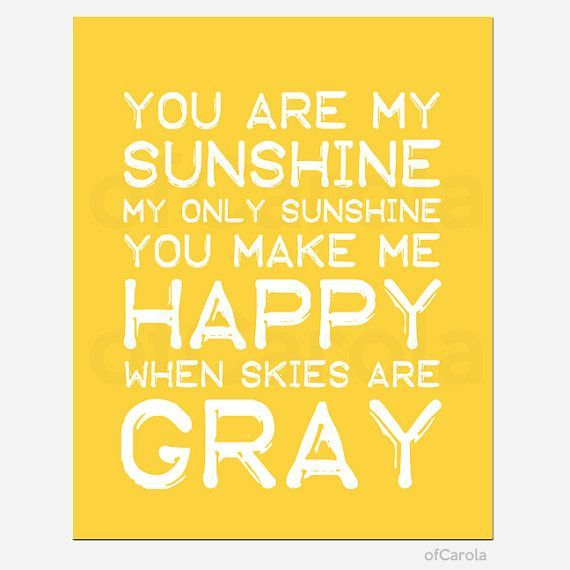 baby nursery quotes walls | You Are My Sunshine Baby Nursery Wall ...