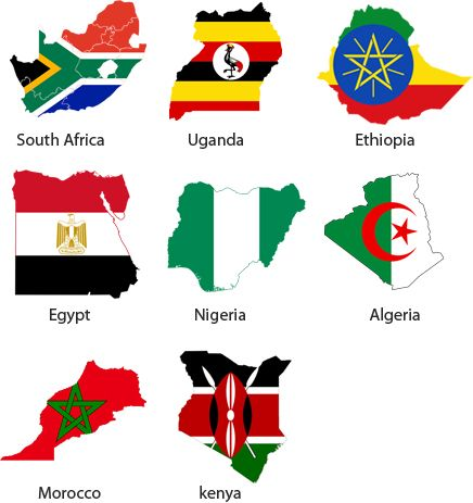 Flags for African Countries Fun Facts Easy Science For Kids