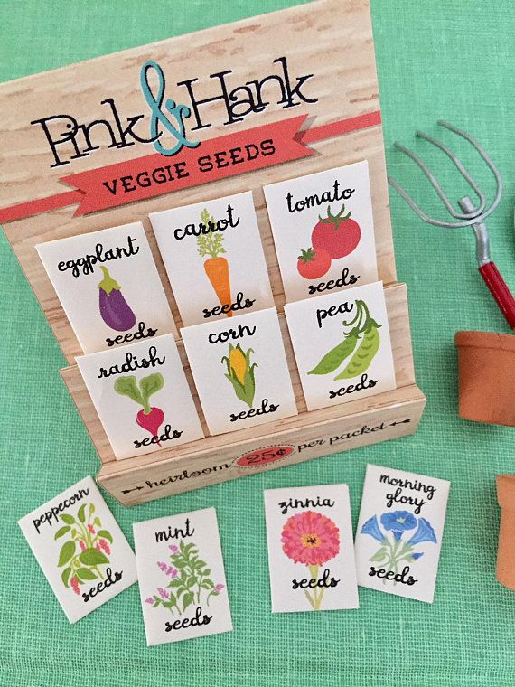 Set Of Six Mini Vegetable Seed Packets With Stand Miniature Packet Doll House Decor Fairy Ga Vegetableseedkets