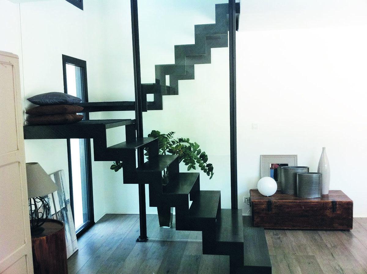 Escalier double quart tournant inox … | Pinteres…