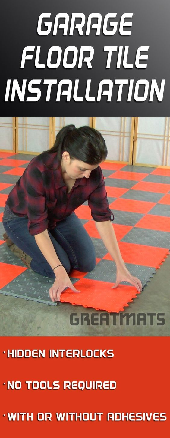 Greatmats garage floor tiles are the best and easiest way to add a custom style to your garage floor.
