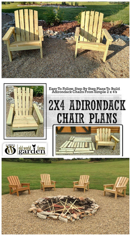 2X4 Adirondack Chair Plans! Chair ad DIY Planks