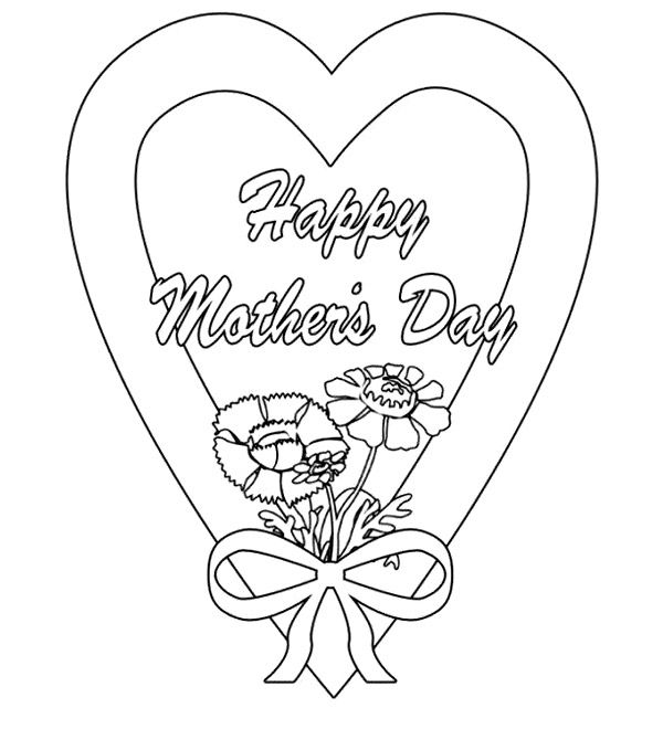 Free Printable Mom Coloring Page in 2020 (With images ...