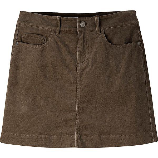 Mountain Khakis Canyon Cord Skirt - 6 - Terra - Skirts (175 BRL) ❤ liked on Polyvore featuring skirts, green, brown skirt, pocket skirt, green skirt, cord skirt and mountain khakis
