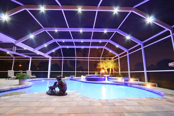 Starry Night! Neblula Pool Cage Lighting | Pool enclosure lighting, Swimming pool enclosures, Florida pool