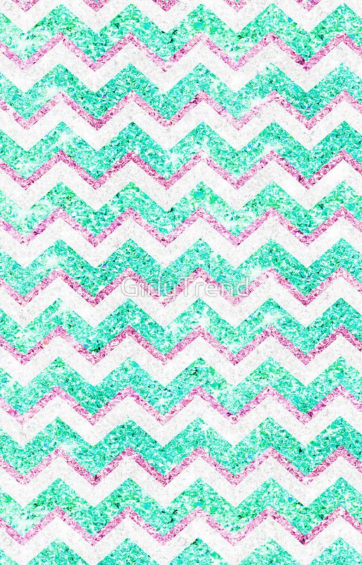 Chevron Pattern Girly Teal Pink Glitter Photo Iphone Case Cover By Girlytrend In 2021 Glitter Photo Wallpaper Iphone Cute Chevron Wallpaper
