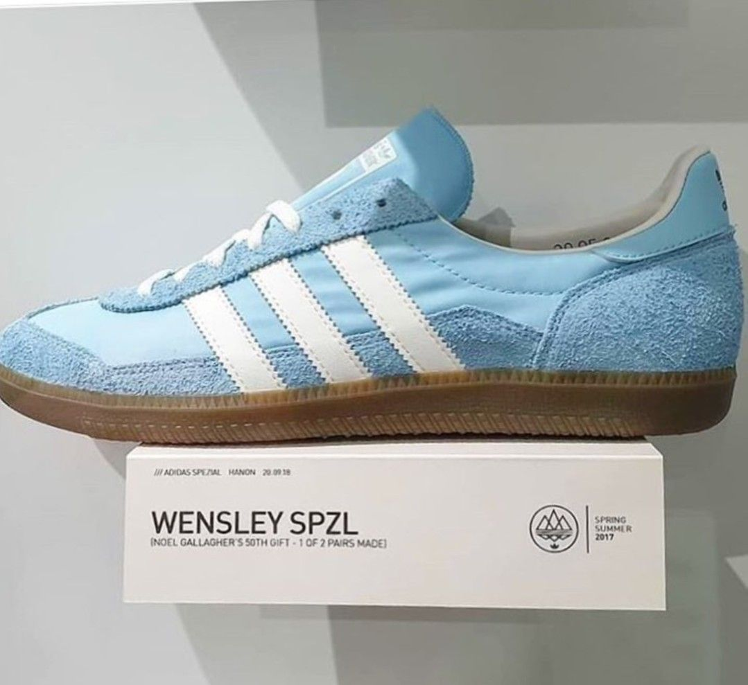 best loved 9c09a 945b5 1 of 2 Adidas Wensley Spezial made for Noel Gallagher to celebrate his 50th  birthday in City blue