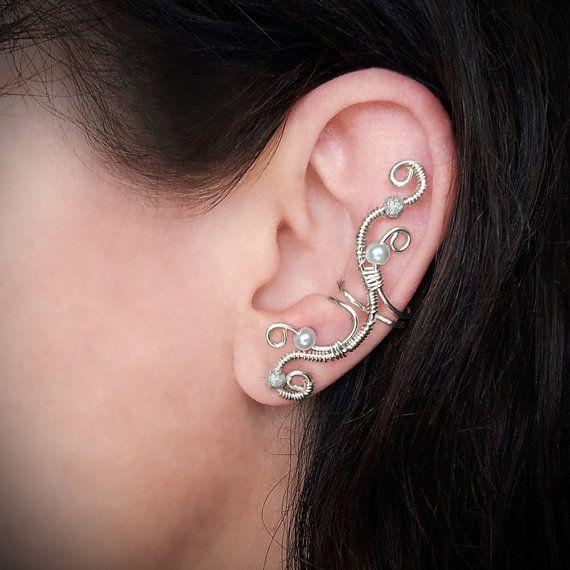 Silver Ear Cuff Elegant Wrap By