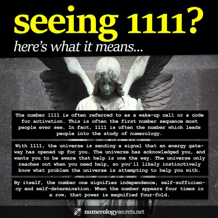 Meanings Behind Angel Number 1111 Httpnumerologysecrets
